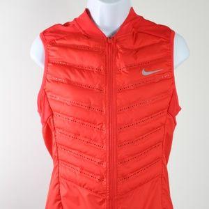 Nike Running Aeroloft 800 vest women's small red